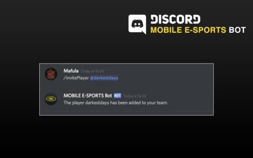 MOBILE E-SPORTS Bot – A Simpler Way To Manage Your Team | MOBILE E